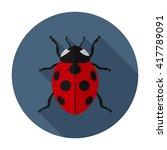 Ladybug Icon Flat. Ladybug Ico...