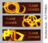 illustration of set of fire... | Shutterstock .eps vector #417790801