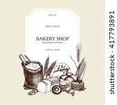vector design for baking shop... | Shutterstock .eps vector #417793891