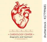 human heart medical symbol of... | Shutterstock .eps vector #417799681