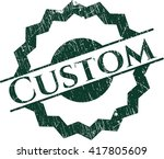 custom rubber seal with grunge... | Shutterstock .eps vector #417805609