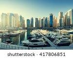 Dubai Marina At Sunset  United...