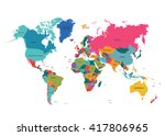 political world map | Shutterstock .eps vector #417806965