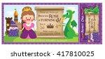 a vector illustration fantasy... | Shutterstock .eps vector #417810025