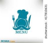 chef hat with mustache. foods...   Shutterstock .eps vector #417810631