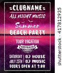 beach party flyer or poster.... | Shutterstock .eps vector #417812935