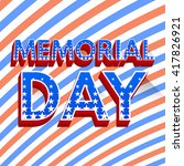 memorial day background. poster.... | Shutterstock .eps vector #417826921
