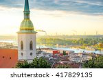 st. martin's church tower on... | Shutterstock . vector #417829135