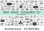 hand lettered catchwords and ... | Shutterstock .eps vector #417835381