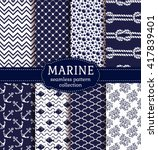 set of marine and nautical... | Shutterstock .eps vector #417839401