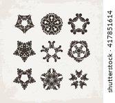 set of ornate mandala symbols.... | Shutterstock . vector #417851614