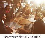 business corporation... | Shutterstock . vector #417854815