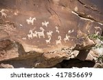Ute Petroglyphs In Arches...