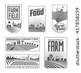 Farm Field Labels Set Of Vecto...