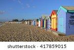 lovely bathing boxes in... | Shutterstock . vector #417859015