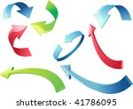 colorful 3d arrows vector... | Shutterstock .eps vector #41786095