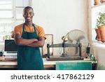 handsome young african artisan... | Shutterstock . vector #417862129
