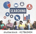 seo search engine optimization... | Shutterstock . vector #417863404