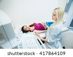 doctor and patient. ultrasound... | Shutterstock . vector #417864109