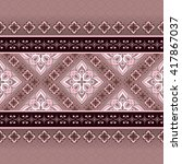 vintage seamless pink brown... | Shutterstock .eps vector #417867037