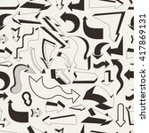 seamless pattern with art... | Shutterstock .eps vector #417869131