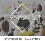 mentoring coaching guiding... | Shutterstock . vector #417869899