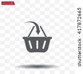vector shopping basket icon | Shutterstock .eps vector #417872665