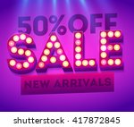 sale new arrivals banner. sales ... | Shutterstock .eps vector #417872845