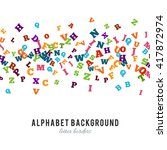 abstract colorful alphabet... | Shutterstock .eps vector #417872974