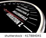 generation x y z millennials... | Shutterstock . vector #417884041
