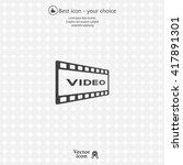 video icon   Shutterstock .eps vector #417891301
