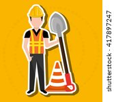construction worker design  | Shutterstock .eps vector #417897247