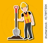 construction worker design  | Shutterstock .eps vector #417897304