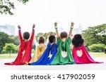 superhero kids aspiration... | Shutterstock . vector #417902059