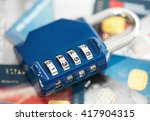 lock with credit card. | Shutterstock . vector #417904315