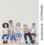 kids fun children playful... | Shutterstock . vector #417904681