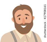 flat cartoon man vector icon.... | Shutterstock .eps vector #417908161