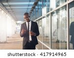 young african professional man... | Shutterstock . vector #417914965