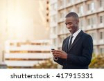 young african entrepreneur... | Shutterstock . vector #417915331