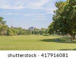 wachirabenchatat park  bangkok  ... | Shutterstock . vector #417916081