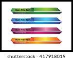 web   graphic lower third ... | Shutterstock .eps vector #417918019