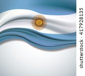 vector argentina flag blowing... | Shutterstock .eps vector #417928135