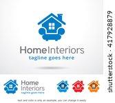 home interiors logo template... | Shutterstock .eps vector #417928879