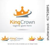 king crown logo template design ... | Shutterstock .eps vector #417928891