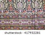colorful batik sarong fabric... | Shutterstock . vector #417932281