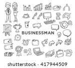 set of business doodle | Shutterstock .eps vector #417944509