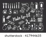set of make up kit doodle | Shutterstock .eps vector #417944635