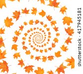 Autumn Maple Leaves Spiral...