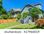 residential house with the... | Shutterstock . vector #417960019