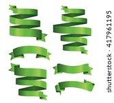 green banner ribbon vector set...   Shutterstock .eps vector #417961195